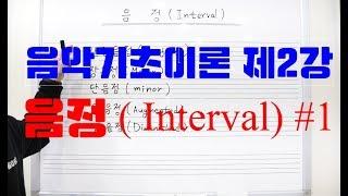 음악기초이론 제2강 음정(INTERVAL) #1