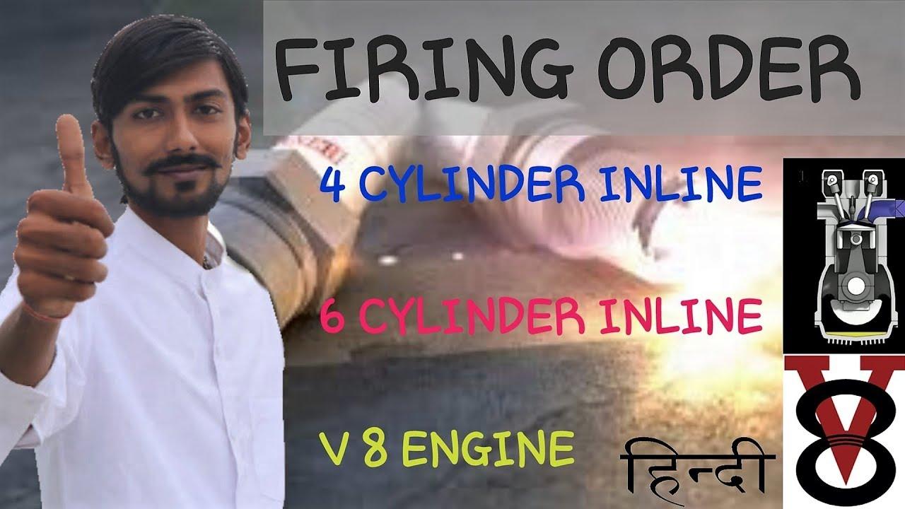 [HINDI]FIRING ORDER ~ 4-CYLINDER INLINE , 6-CYLINDER INLINE , V-8 ENGINE  FIRING ORDER~WITH ANIMATION