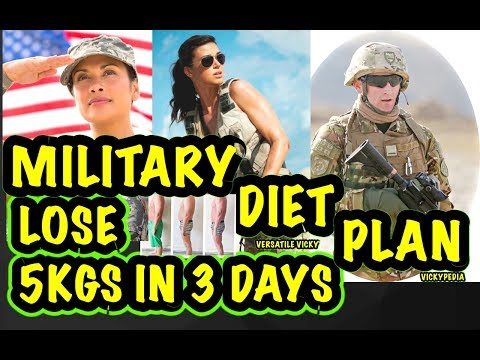 How to LOSE 10 POUNDS IN 3 DAYS | Military Diet Plan – Indian Military Diet – Lose 5 Kgs in 3 Days