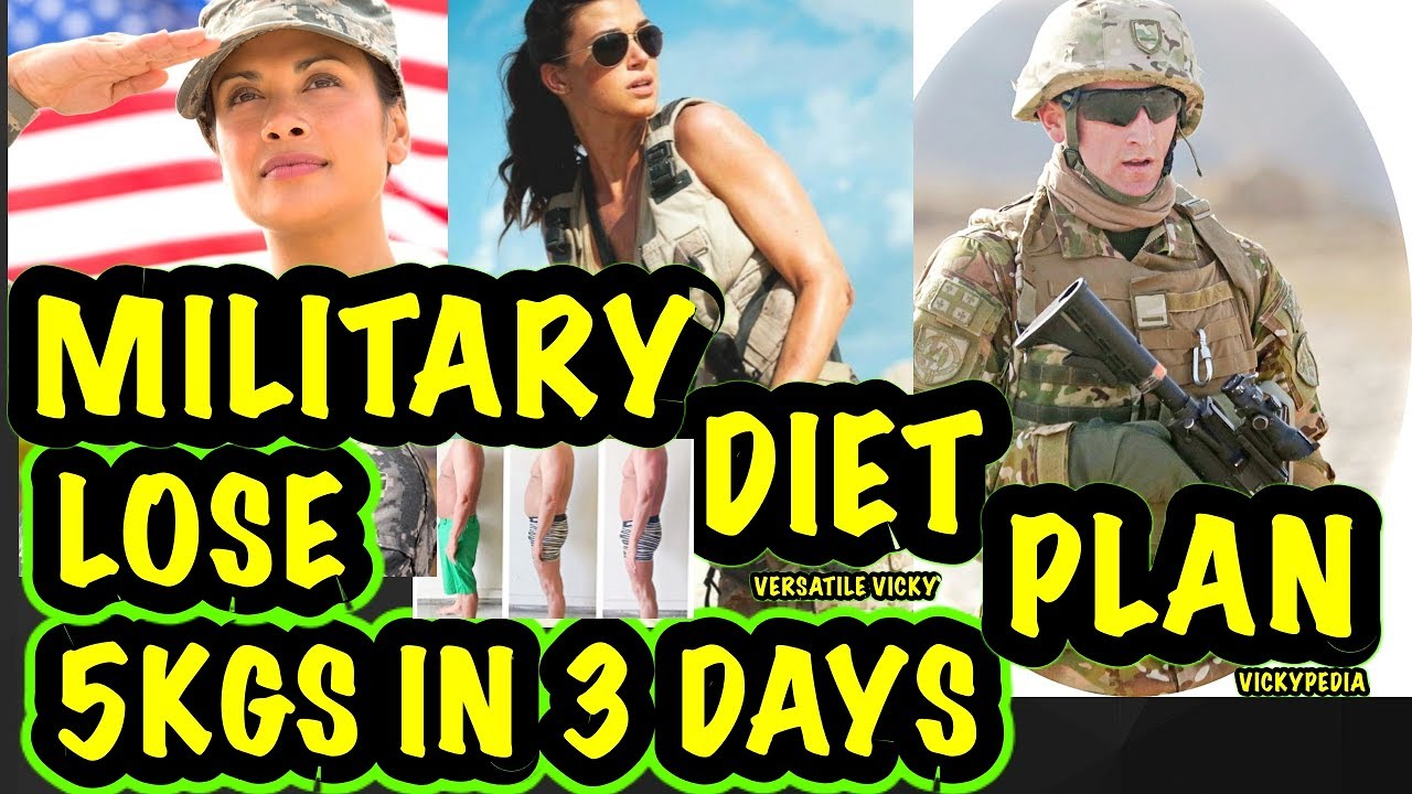 Military Diet Plan Lose 5 Kgs In 3 Days Youtube