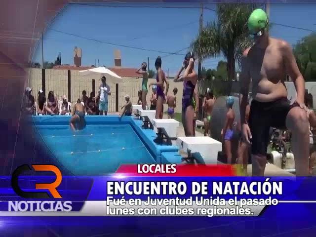 ENCUENTRO DE NATACION EN JUVENTUD UNIDA DE CAMILO ALDAO