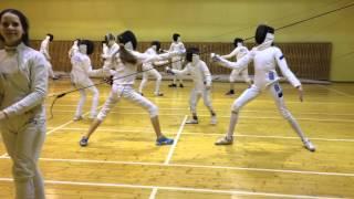 Тренировка ТК фехтование