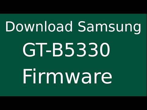 How To Download Samsung Galaxy Chat GT-B5330 Stock Firmware (Flash File) For Update Android Device