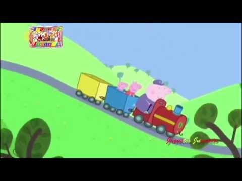 Peppa Pig Song the Wheel on the Bus version Grandpa Little Train Nursery Rhymes: The wheels on the train goes up and down.  INSTAGRAM:    http://goo.gl/mouvfj  FACEBOOK:       http://goo.gl/ijKLn0  GOOGLE+:         http://goo.gl/FwMgan  Twitter:              https://twitter.com/JuguetesJugando  …..PLAYLIST…..  LEGO BUILDING BLOCKS PLAYLIST:            http://goo.gl/GD4tmj  POKEMON TOYS PLAYLIST:                           http://goo.gl/SwbhMu  PEPPA PIG SONGS PLAYLIST:                       http://goo.gl/lNX3C2  CANCIONES DE PEPPA PIG ESPAÑOL:        http://goo.gl/lNX3C2  SURPRISE PLAYLIST:                                      http://goo.gl/XLmzSf