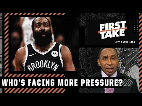 Stephen A. explains why James Harden faces the most pressure of the Nets' Big 3   First Take