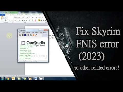 How to install/fix FNIS mod for Skyrim PC!