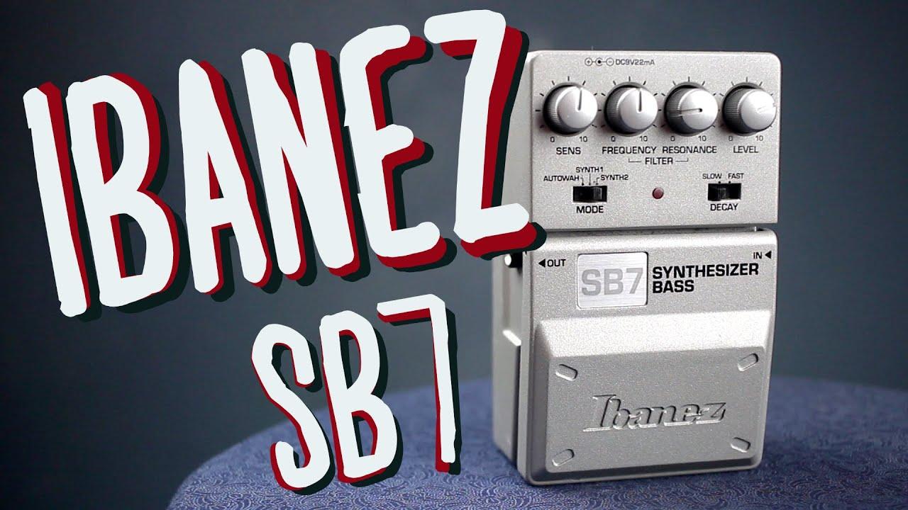 ibanez sb7 bass synthesizer demo youtube
