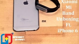 xiaomi mi band india unboxing set up with iphone 6