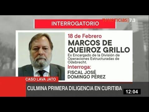 Odebrecht: fiscales concluyen interrogatorio a marcos de Queiroz Grillo