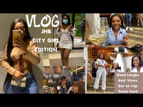 VLOG: Johannesburg City Girls |Hot Fashion NAYELI | Best Lunch Spot | Dinner Date |  RooftopBar