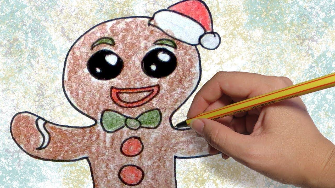 Como dibujar una galleta de jengibre para navidad dibujos - Dibujos de pared para ninos ...