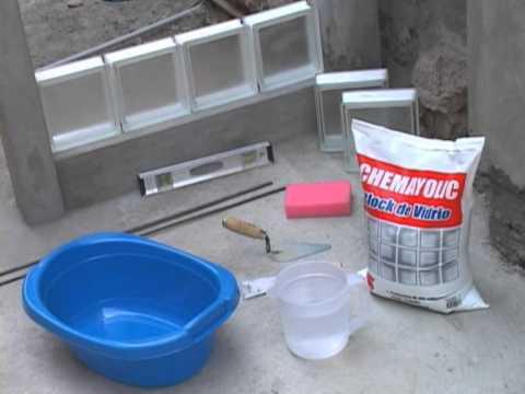 Chemayolic block de vidrio youtube - Como colocar ladrillos de vidrio ...