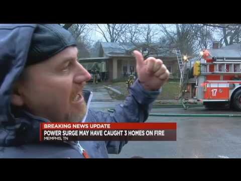 Power surge sets 3 homes on fire   WMC Action News 5   Memphis Tennessee