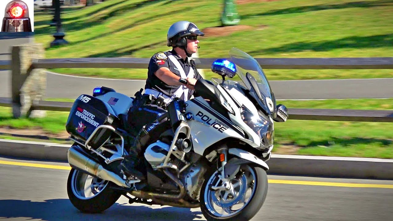 Cambridge Police Traffic Enforcement Bmw R1200 Rt P Motorcycles Great Sirens Youtube