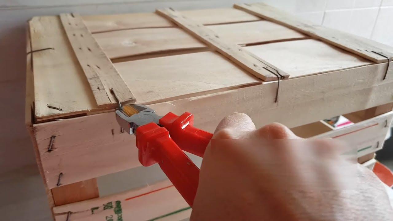 Cassette Della Frutta Legno come ti trasformo una cassetta di legno (2020) riutilizzare cassette di  legno tutorial