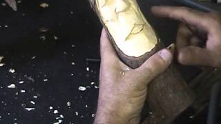 How to carve a wood spirit 8
