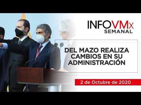 DEL MAZO REALIZA CAMBIOS EN SU ADMINISTRACIÓN; INFOVMx a 2 de Octubre, 2020