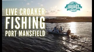First time fishing with live croaker - Port Mansfield