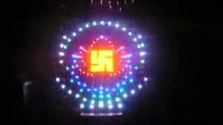 Hào quang bằng đèn led trang trí phật trong nhà và led ngoài trời