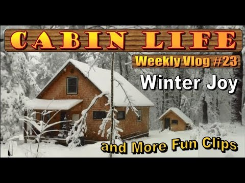 OFF  GRID CABIN LIFE  Vlog 23   Winter Joys And More MOUSE BUCKET MADNESS