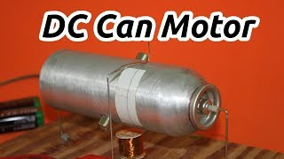 Homemade Electric DC Motor with Aluminum Can