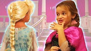 Prenses Anna ve Kraliçe Elsa Evcilik Oyunu   Çizgi Film ve Masal Karakterleri   EvcilikTV