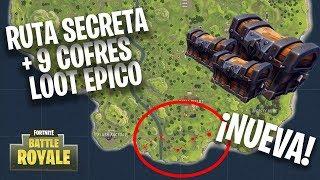 New Secret Loot Route (+9 COFRES) Fortnite Battle Royale Español