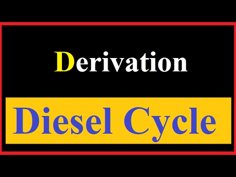 Derivation of Diesel Cycle