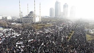 Anti-Charlie Hebdo Rally In Chechnya Is HUGE