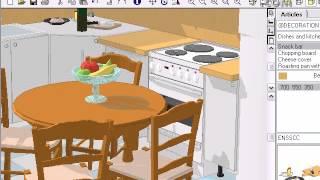 Кухня, проектирана триизмерно Видео-3.