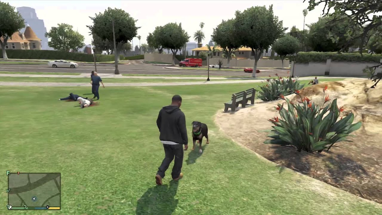 GTA 5 - Playing With The Dog - YouTube