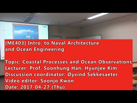 Introduction to Naval Architecture and Ocean Engineering : Coastal Processes and Ocean Observations