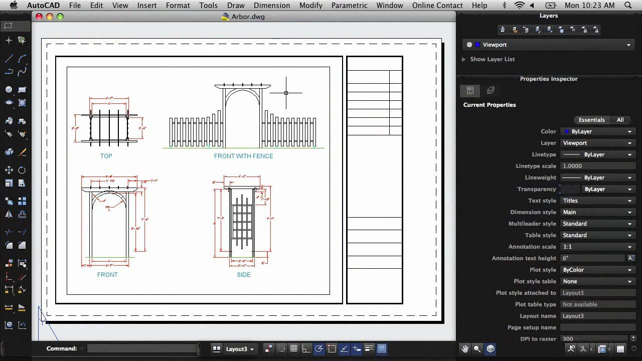 Print a Drawing Layout