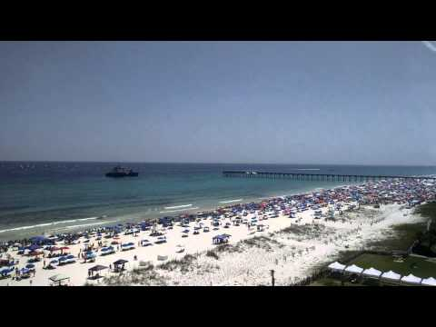 Blue Angel Sneak attack Pensacola Beach 7-11-15