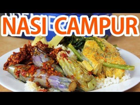Nasi Campur in Kampung Baru (Mixed Rice Curry)