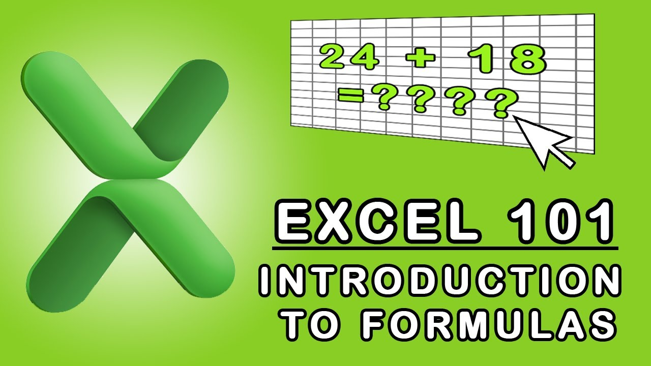 Excel 20 Introduction to Formulas   YouTube