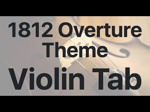 Learn 1812 Overture Theme on Violin  How to Play Tutorial