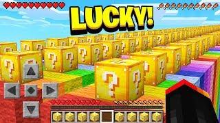 LUCKIEST MINECRAFT PLAYER vs UN-LUCKIEST MINECRAFT PLAY! (1v1 Lucky Block Race)