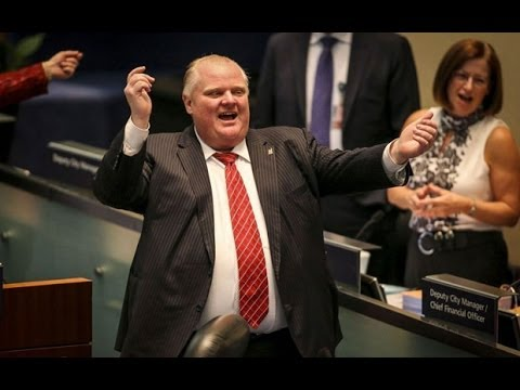Toronto Mayor Rob Ford caught dancing in council meeting