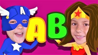 ABC SUPERHEROES Phonics Song! Kids Songs and Nursery Rhymes