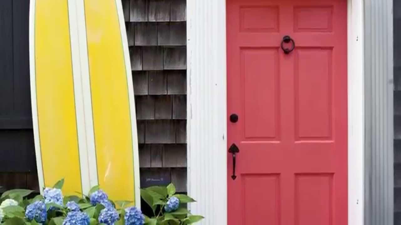 Paint Color Ideas for Your Front Door | Seaside Design | Coastal ...