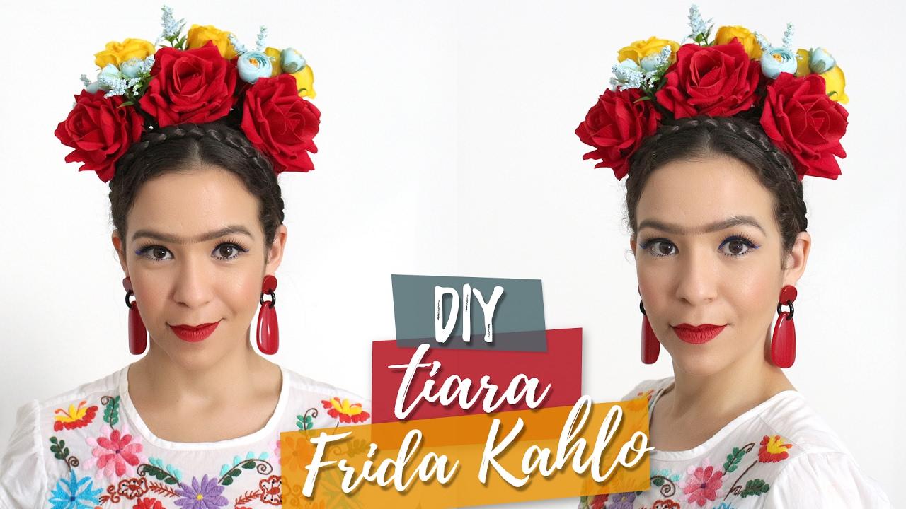 b1fd71fc75b Como fazer uma tiara de Frida Kahlo para o carnaval