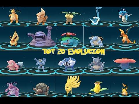 EVOLUCIÓN POKÉMON GO AMAZING- TOP 20 RARE POKEMON EVOLVING