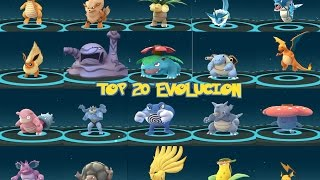 EVOLUCIÓN POKÉMON GO AMAZING- TOP 20 RARE POKEMON EVOLVING