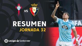 Resumen de RC Celta vs CA Osasuna (2-1)