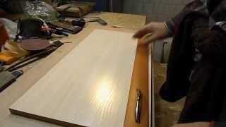Профиль МДФ  Декор для двери  Накладка МДФ на дверь(Handicraft. Накладка на дверь из МДФ профиля. Сборка мебели. Оформление двери декоративными накладками., 2014-12-12T14:46:51.000Z)