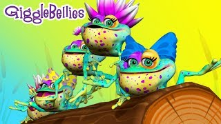 Repeat youtube video Speckled Frogs + More Songs   Nursery Rhymes   GiggleBellies