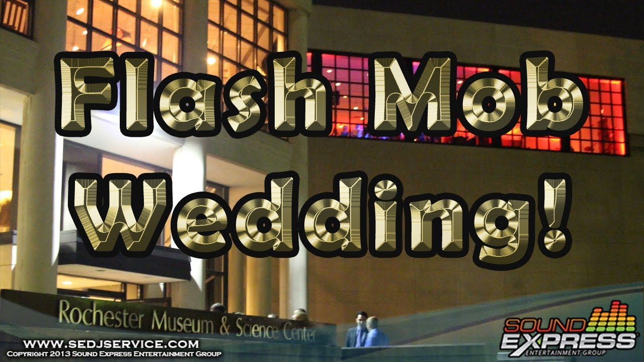 Flash Mob Wedding Idea At The Rochester Museum Science Center With Sound Express Entertainment