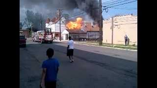 Hobby Shop Fire,  Paterson NJ 6-17-2012 Part 1