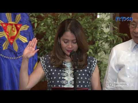 Oath Taking of Tourism Secretary Bernadette Romulo-Puyat 5/14/2018